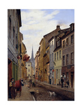 The Parochialstrasse, 1831 Giclee Print by Johann Philipp Eduard Gaertner