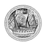 Seal and Autograph of the Lord High Admiral, Charles, Lord Howard of Nottingham, 1585 Giclee Print