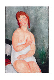Young Woman in a Shirt, 1818 Giclee Print by Amedeo Modigliani