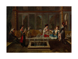 The Conversation, 1730S Giclee Print by Jean-Baptiste Vanmour