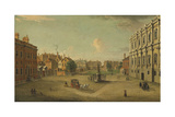 Four Views of London: the Privy Garden, Whitehall Giclee Print by Antonio Joli