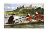 Rowing, 19th Century Giclee Print