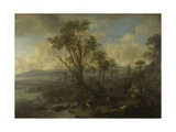A Stag Hunt, Ca 1665 Giclee Print