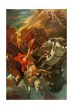 The Fall of Phaeton Giclée-tryk af Sebastiano Ricci