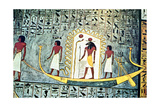 The Sun God Ra, Boat Scene Giclee Print