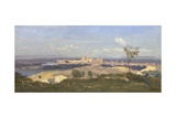 Avignon from the West, 1836 Giclee Print by Jean-Baptiste Camille Corot