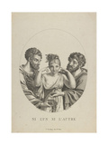 None of the Two (Ni L'Un, Ni L'Autr), Early 19th C Giclee Print by Friedrich Fleischmann