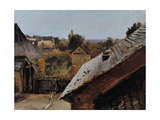 View of Roofs and Gardens, 1835 Giclee Print by Carl Blechen