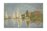 Regattas at Argenteuil, Ca 1872 Giclee Print by Claude Monet