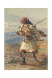 Greek Warrior, 1861 Giclee Print by Carl Haag