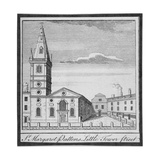 Church of St Margaret Pattens, Little Tower Street, City of London, 1750 Giclee Print