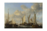 A Dutch Yacht Saluting, 1661 Giclée-Druck von Willem Van De Velde The Younger