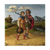 David and Jonathan, C.1508 Giclee Print by Giovanni Battista Cima Da Conegliano