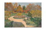 Garden in Autumn Giclee Print by Sergei Arsenyevich Vinogradov
