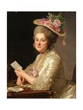Portrait of Marie Emilie Cuivilliers, Née Boucher, 1779 Giclee Print by Alexander Roslin