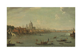 Four Views of London: the Thames Looking Towards St. Pauls Giclee Print by Antonio Joli