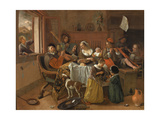 The Merry Family, 1668 Giclee Print by Jan Havicksz Steen