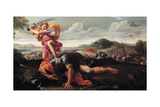 David and Goliath, 1650-1660 Giclee Print by Guillaume Courtois