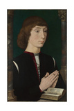 A Young Man at Prayer, 1470S Gicléetryck av Hans Memling