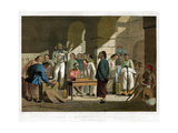 Sale of English Goods, Canton, 1858 Giclee Print by Charles Wirgman