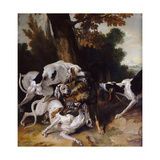 The Wolf Hunt, 1725 Giclee Print by Jean-Baptiste Oudry