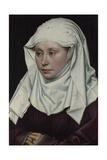 Portrait of a Woman, Ca 1435 Giclée-Druck von Robert Campin