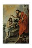 The Baptism of Christ, 1655 Giclee Print by Bartolomé Estebàn Murillo