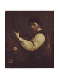 The Luteplayer Giclee Print by Giuseppe Maria Crespi