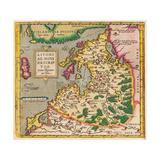 Livonia Map, Livoniae Nova Descriptio, 1573-1578 Giclee Print