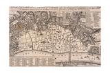 Mapa de Londres Lámina giclée por Wenceslaus Hollar