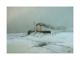 Icebreaker Yermak, 1898 Giclee Print by Nikolai Nikolayevich Karasin