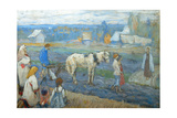 At the Field, 1911 Giclee Print by Mikhail Vasilyevich Nesterov