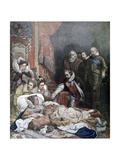 Death of Queen Elizabeth, 1892 Giclee Print by Paul Delaroche