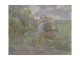 The Kiss, 1897 Giclee Print by Viktor Elpidiforovich Borisov-musatov