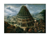The Tower of Babel, 1595 Giclée-Druck von Marten van Valckenborch