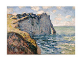 The Cliff of Aval, Etrétat, 1885 Giclee Print by Claude Monet