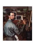 Self-Portrait, 1917 Giclee Print by Alexander Yevgenyevich Yakovlev