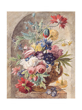 Flower Still Life, Ca 1734 Giclee Print by Jan Van Der Heyden