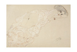 Reclining Nude Lying on Her Stomach and Facing Right, 1910 Giclée-Druck von Gustav Klimt