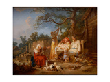The Russian Cradle, Ca 1764-1765 Giclee Print by Jean-Baptiste Le Prince