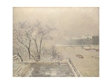 The Louvre under Snow, 1902 Giclee Print