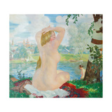 A Bather, 1921 Giclee Print by Boris Michaylovich Kustodiev