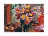 Flower Vase on a Table, 1922 Gicléetryck av Lovis Corinth