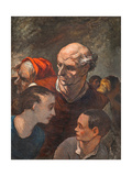 Family on the Barricades Giclee Print by Honoré Daumier