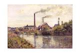 The Factory at Pontoise, 1873 Reproduction procédé giclée par Camille Pissarro