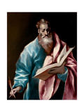 Saint Matthew the Evangelist Giclee Print by  El Greco