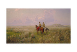 Cossacks in the Steppe, 1900s Giclee Print by Sergei Ivanovich Vasilkovsky
