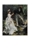 La Promenade, 1870 Giclée-tryk af Pierre-Auguste Renoir