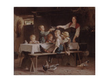 Kids at Lunch, 1857 Giclee Print by Marc Louis Benjamin Vautier