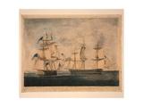 HMS Shannon Captures USS Chesapeake, 1 June 1813, 1813 Giclee Print by Robert Dodd